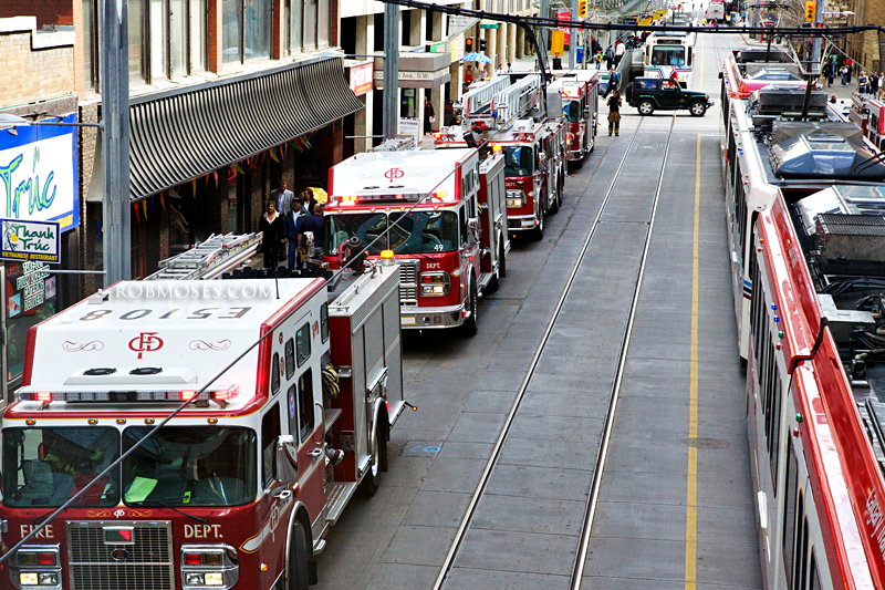 Calgary 7th Ave Fire Trucks - Rob Moses Photography
