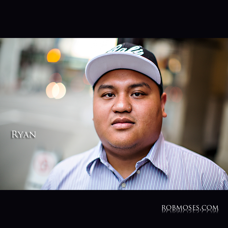 Ryan 10@10 10 at 10 Calgary hip hop portrait street - Rob Moses Photography - famous Canadian canada celebrity - bokeh photographer