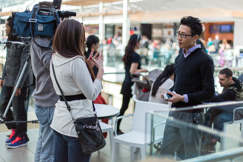 Joe - The People of Calgary - Man Guy Asian glasses bokeh head shot portrait stranger - Rob Moses Photography - Vancouver Seattle Photographer - TV interview like a celebrity - famous shaw tv