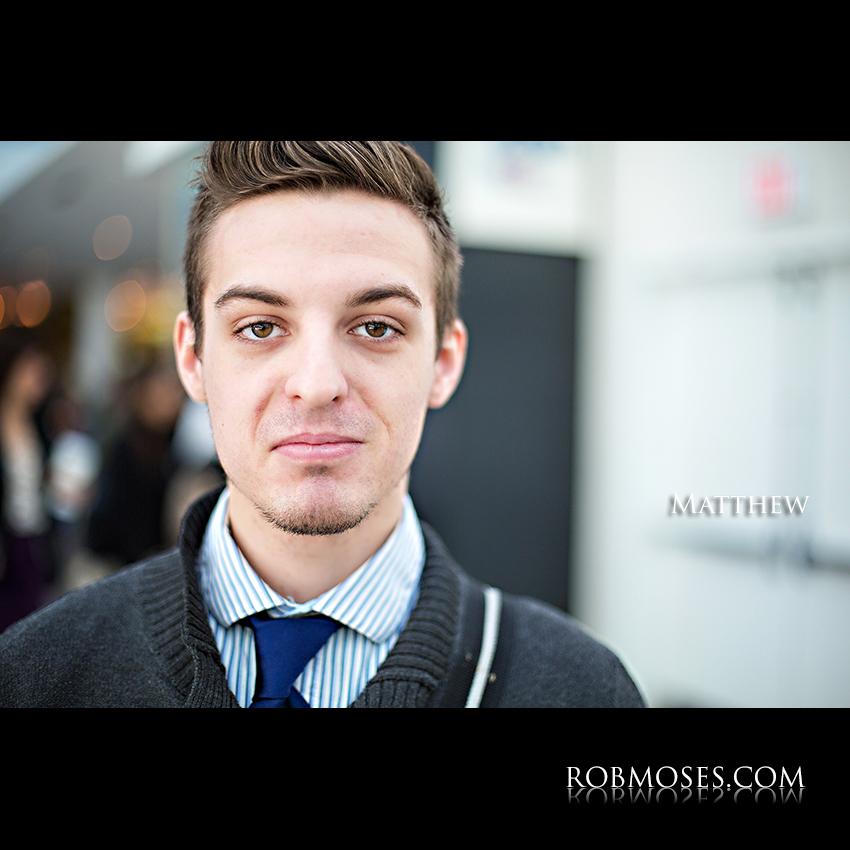 Matthew People of Calgary Guy Man Head shot bokeh - Rob Moses photography - Vancouver Seattle Washington Portrait Photographer Photographers