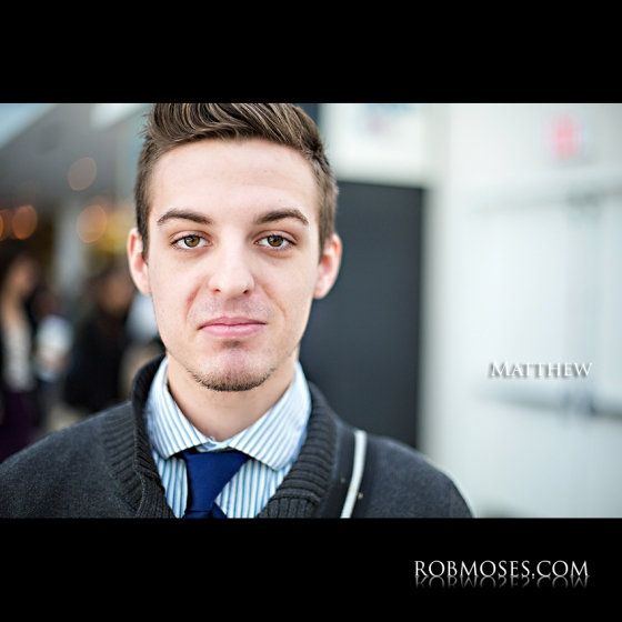 Matthew People of Calgary Guy Man Head shot bokeh - Rob Moses photography - Vancouver Seattle Washington Portrait Photographer Photographers