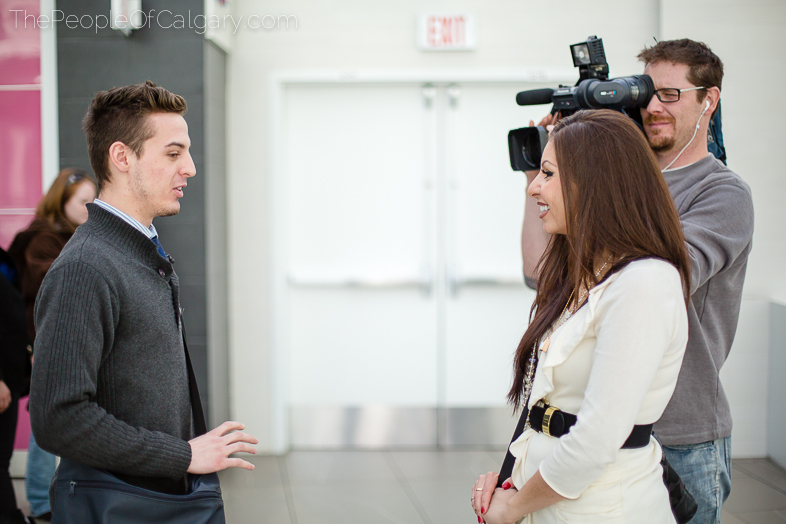 The People of Calgary shaw tv interview famous network reporter camera guy man - Rob Moses Photography - Vancouver Seattle Washington Photographer Photographers